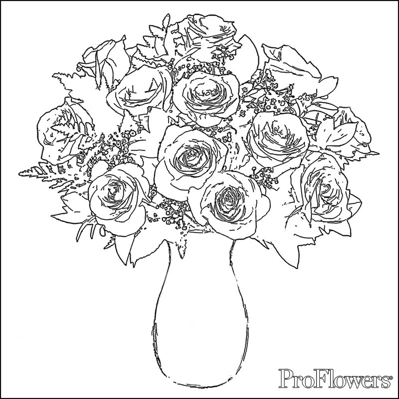 Roses Coloring Pages To Print