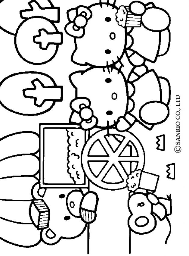 hello kitty friends coloring