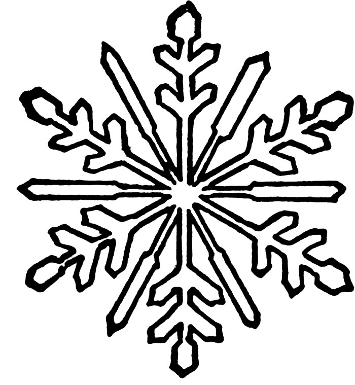 snowflake coloring pages for children - photo#12