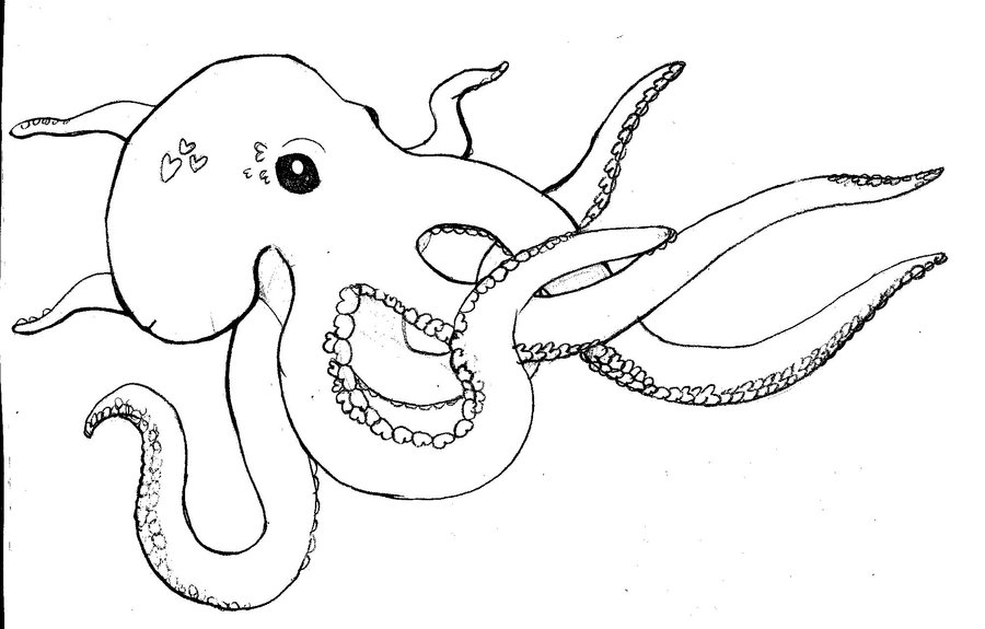 Pictures Of Cartoon Octopus Az Coloring Pages
