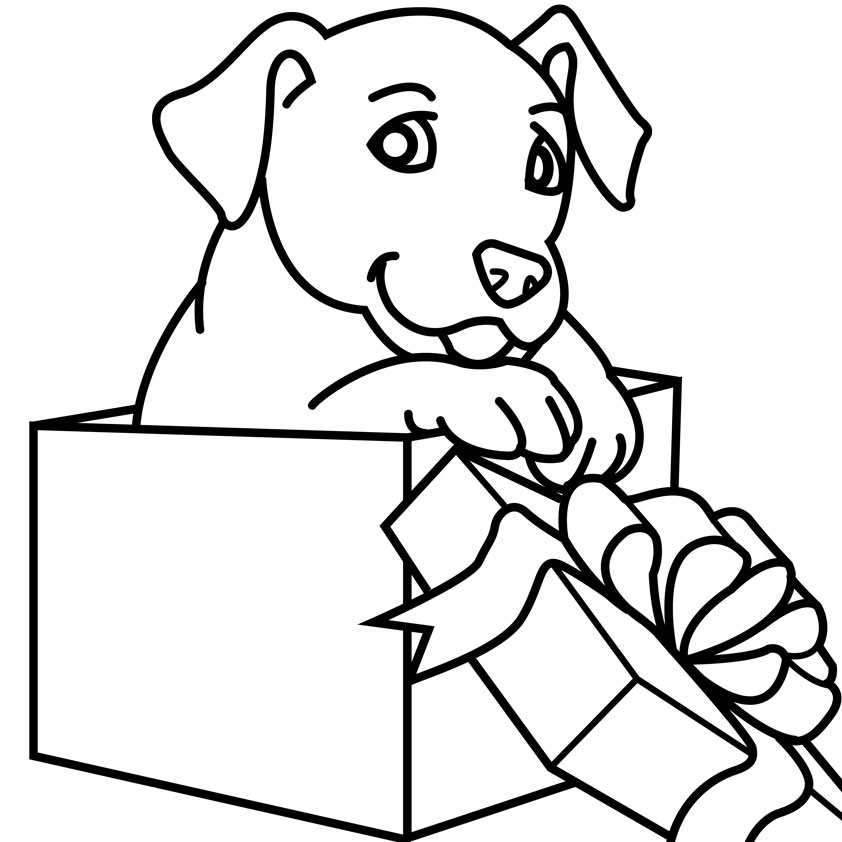 christmas dog coloring pages - photo#23
