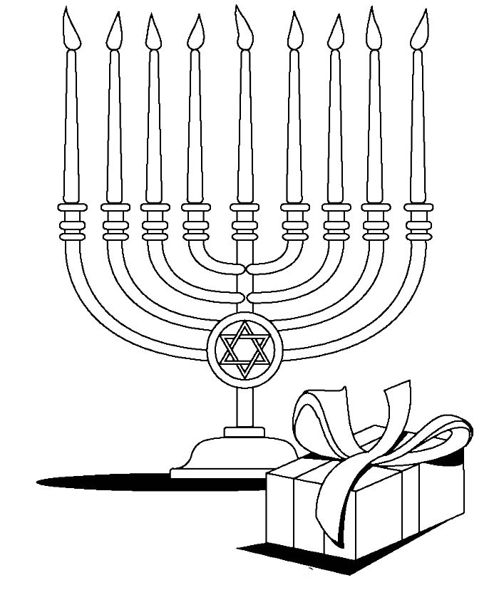 menorah coloring pages - free hanukkah coloring pages az coloring pages