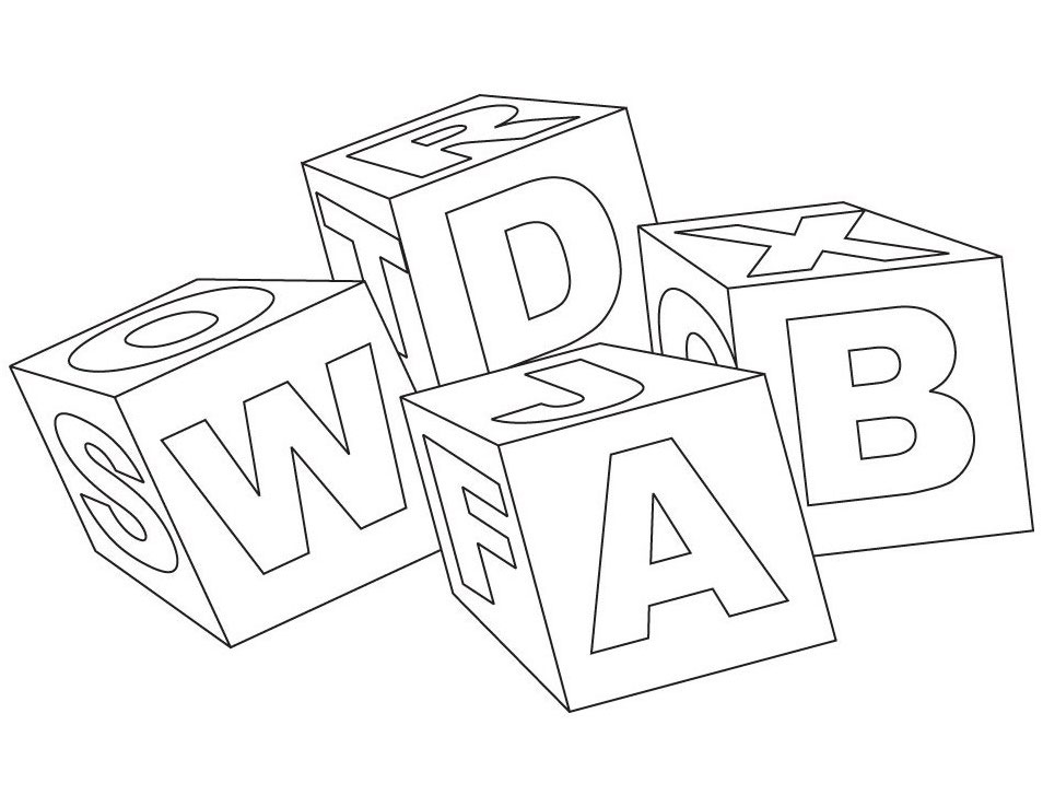 block letters coloring pages