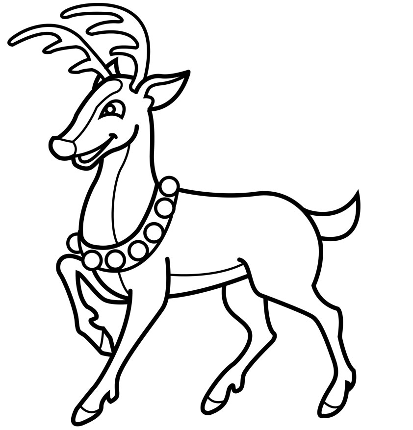 Christmas Reindeer Coloring Pages Az Coloring Pages Reindeer Color Pages