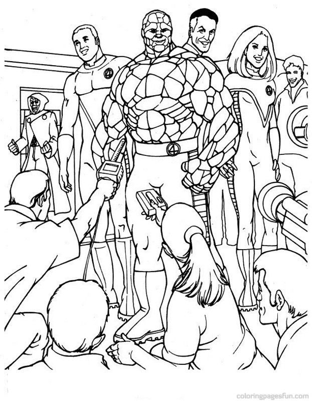 Fantastic Four Coloring Pages 15 | Free Printable Coloring Pages