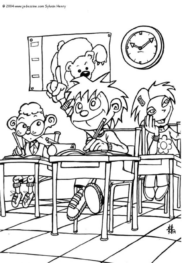 CLASSROOM SCENES Coloring Pages