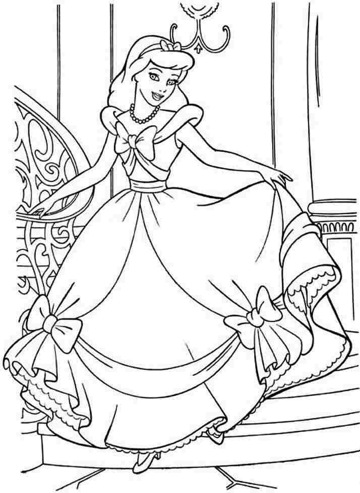 Printable Cinderella Story Coloring