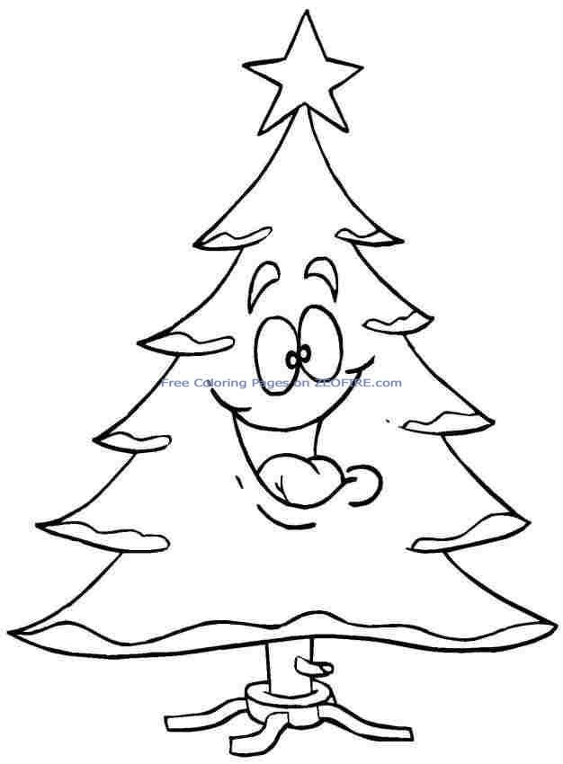Free Printable Christmas Tree Coloring Pages For Preschool Free