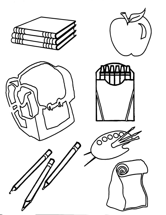 coloring pages school items - photo#2