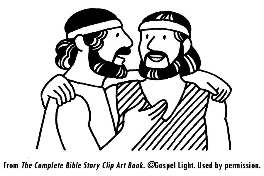 Jacob Meets Esau Coloring Pages