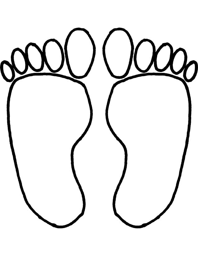 Footprints Coloring Pages Az Coloring Pages Colouring Pages For