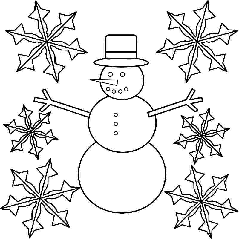 winter coloring pages kindergarten - photo#32