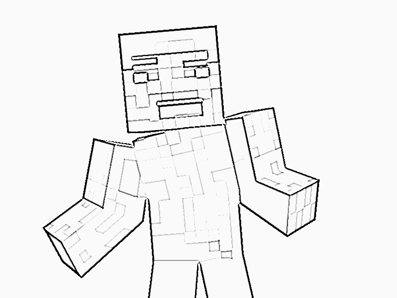 Steve De Minecraft Para Imprimir Y Pintar: Printable Minecraft Coloring Pages