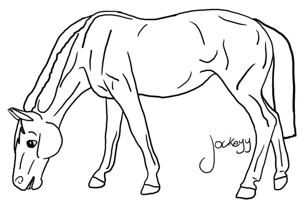 horse coloring pages - photo #39