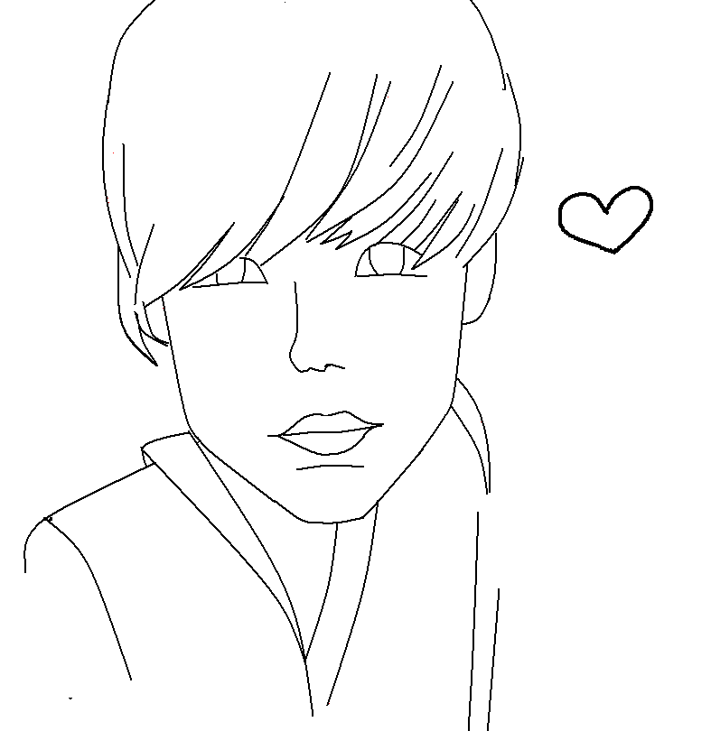 Justin Bieber Coloring Pages and Book | UniqueColoringPages