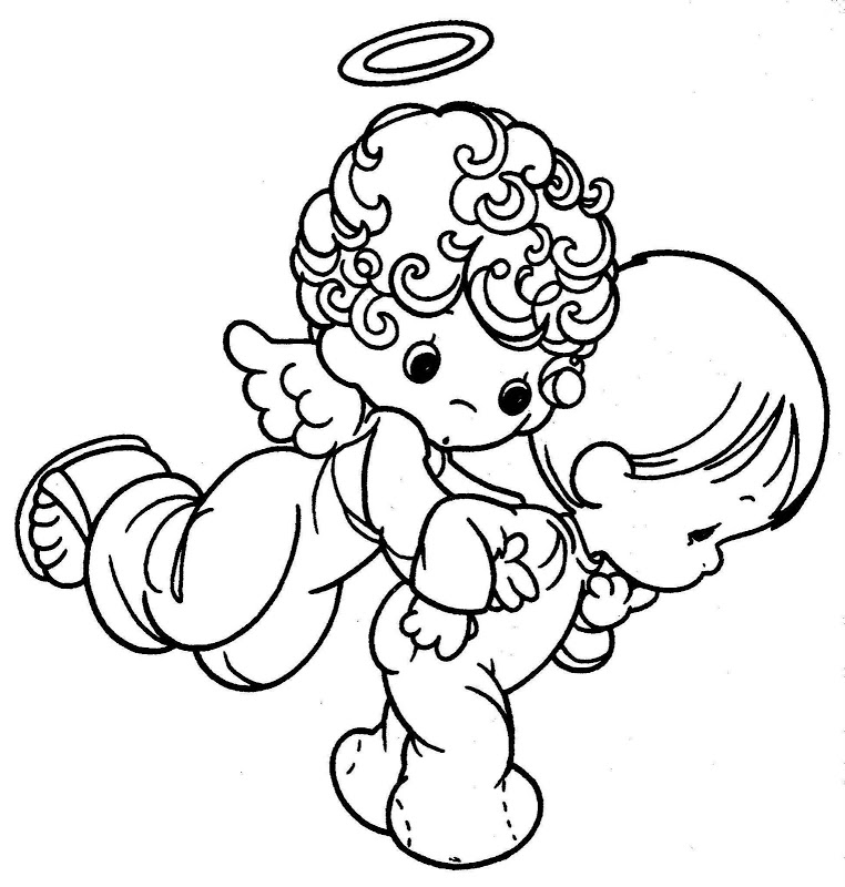 precious moments chritsmas coloring pages - photo#14