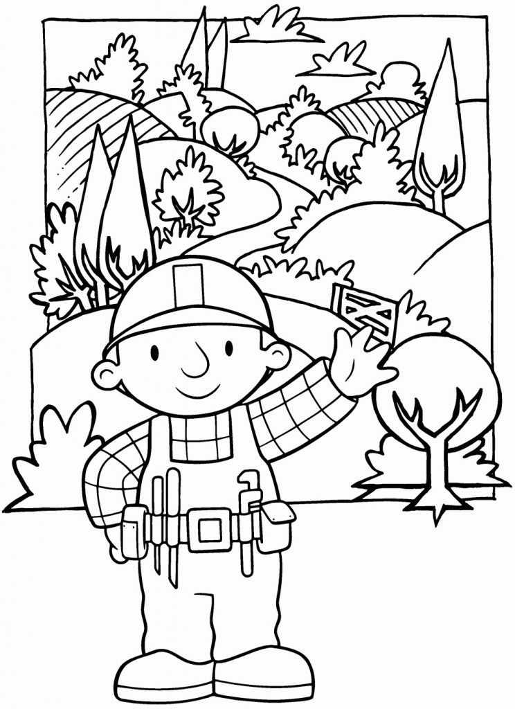 Printable Bob The Builder Coloring Pages For Kids | Free coloring