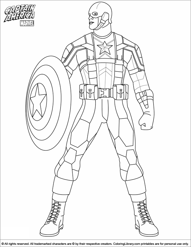 Captain America Coloring Page - Coloring Home