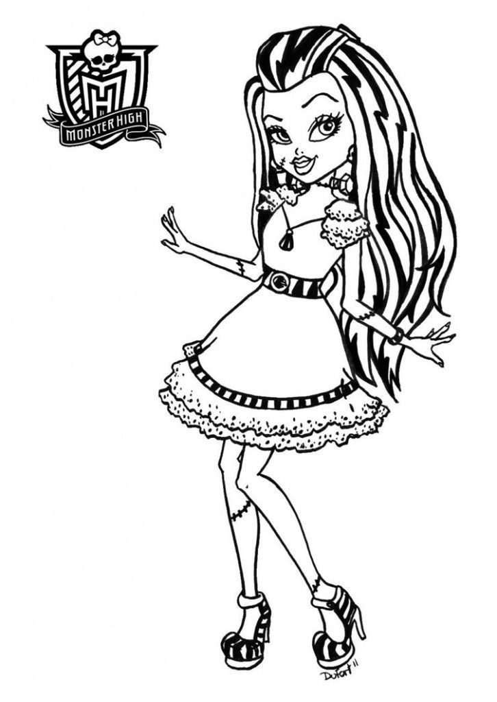 Monster High Coloring Pages For Kids Printable Book