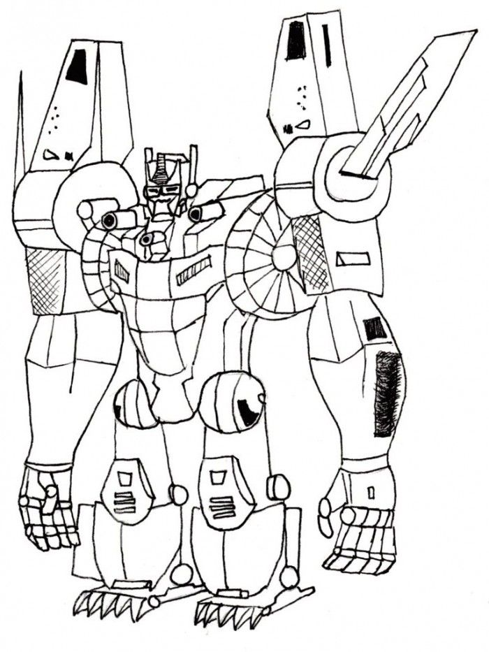 G Optimus Prime Coloring Page