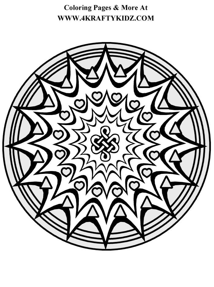 Starburst Mandala Coloring Page AZ Pages