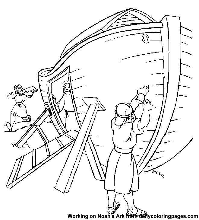 Noah Ark Coloring Page Coloring Home Build A Coloring Pages