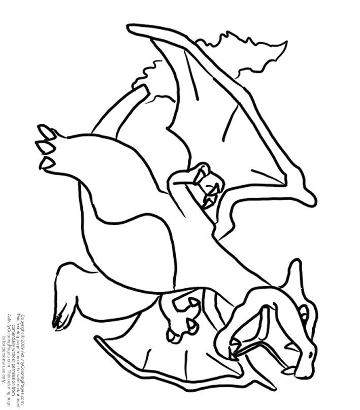pics photos charizard dragon pokemon coloring page