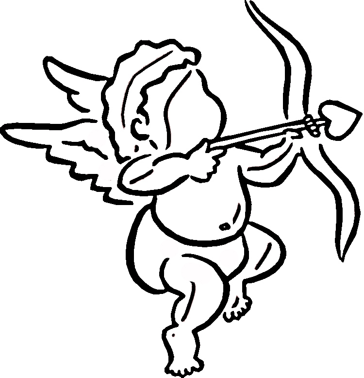cupid coloring pages free - photo#30