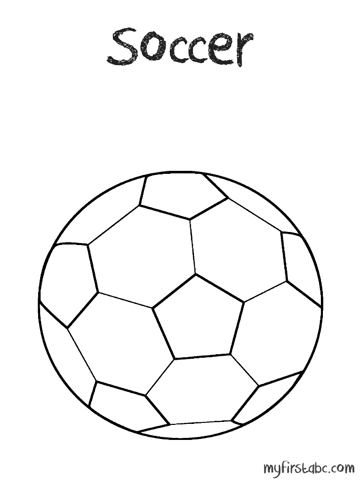 Coloring Pages Of Soccer Balls - Coloring Home
