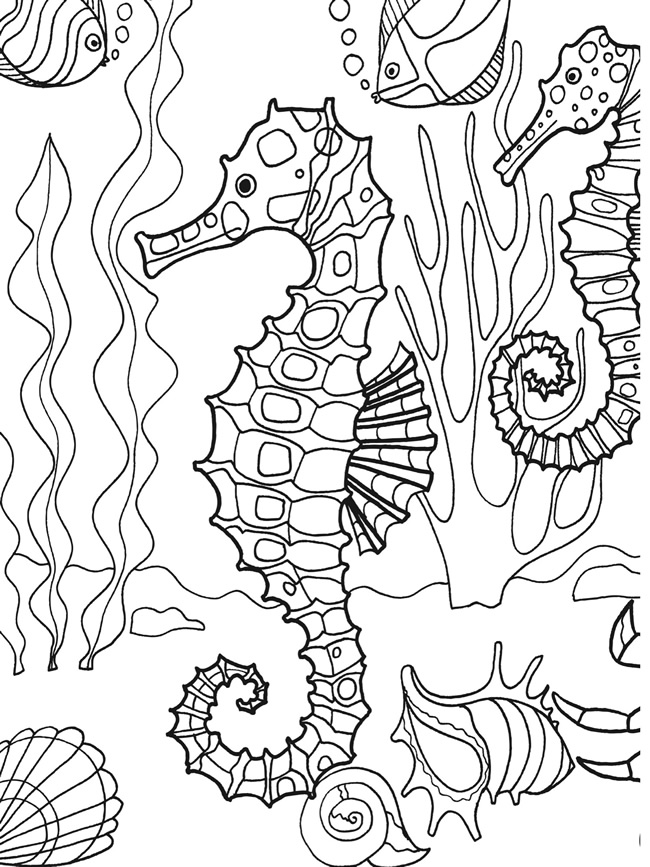 Free Coloring Pages Under The Sea : Ocean Life Coloring Pages AZ Coloring Pages