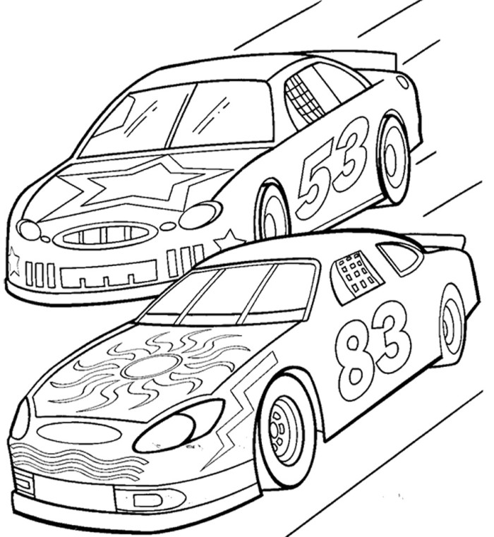 race car track coloring pages - photo#1
