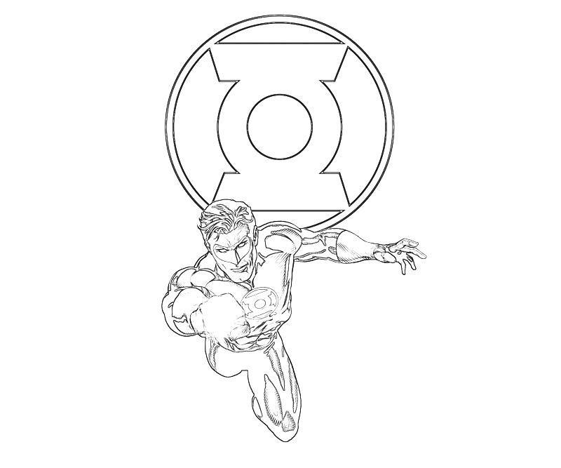Green Lantern Logo Coloring Page