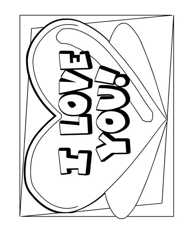 Coloring Pages That Say I Love