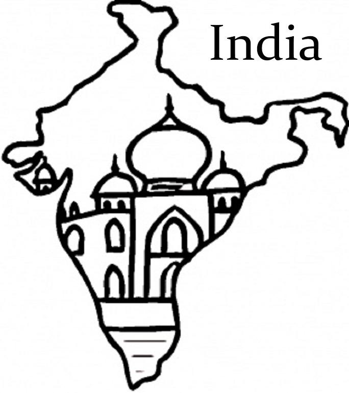 Taj mahal coloring page az coloring pages - Taj Mahal Coloring Page Az Coloring Pages