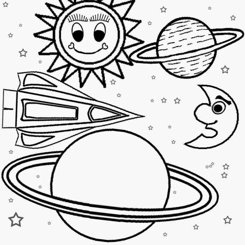 solar system pictures to color - photo #6