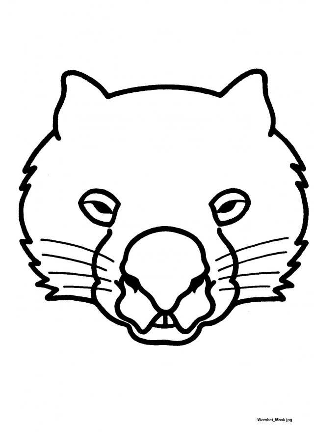 Wombat Coloring Page Az Coloring Pages Wombat Coloring Page