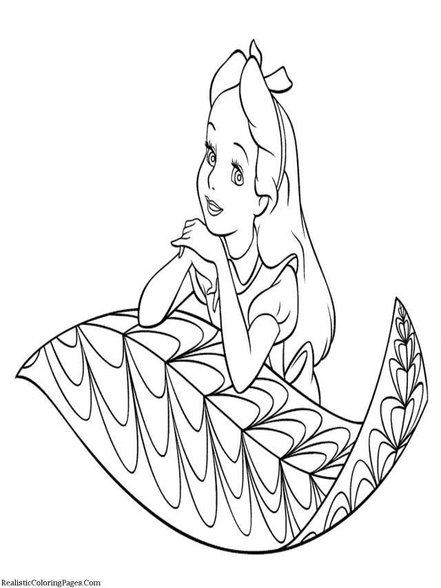 Alice in wonderland coloring book pages az coloring pages for Alice in wonderland tea party coloring pages