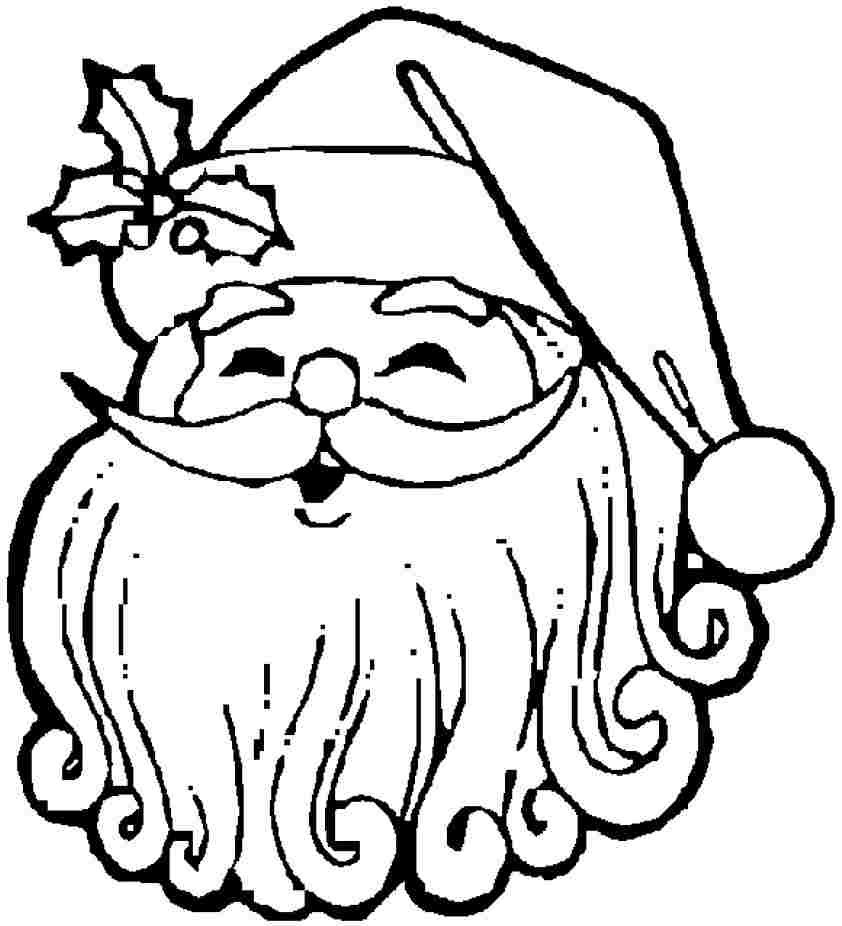 Printable Free Christmas Santa Claus Colouring Pages For