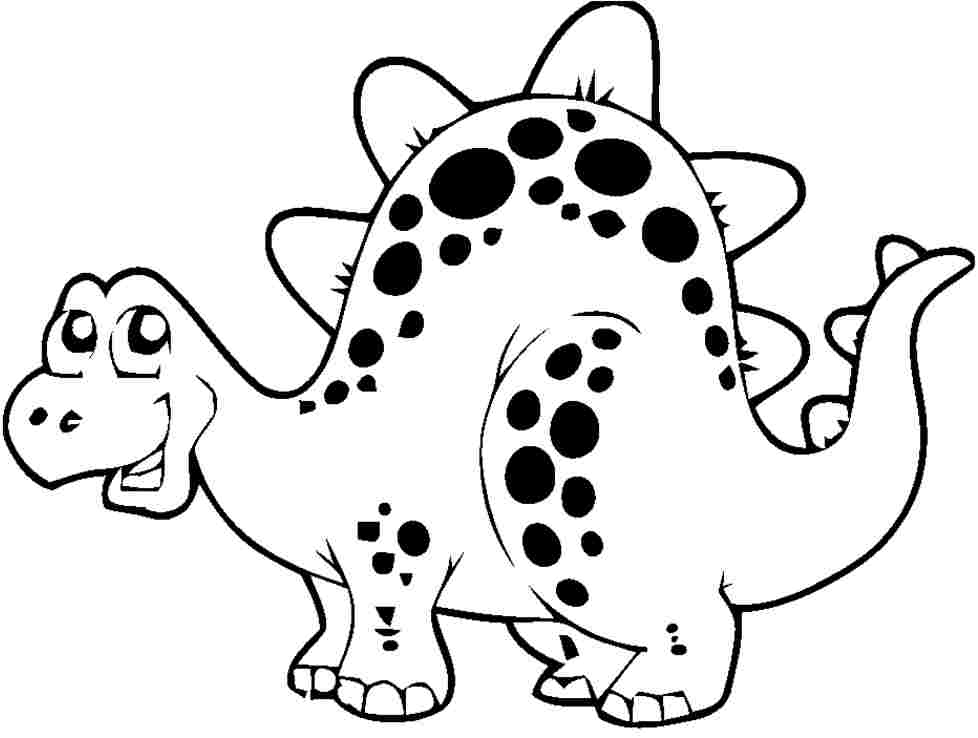 Download or print this amazing coloring page: Cute Dinosaur ... | 738x978