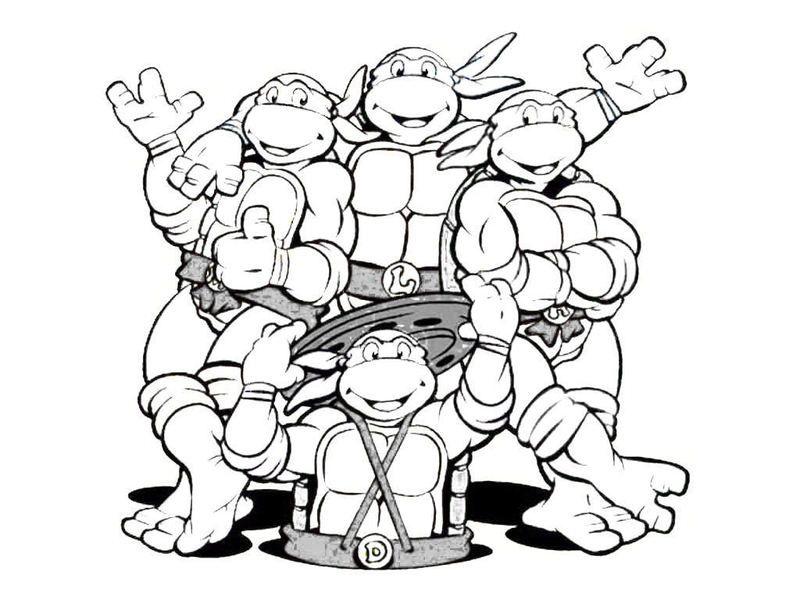 Free Free Printable Ninja Turtle Coloring Pages, Download Free ... | 600x800