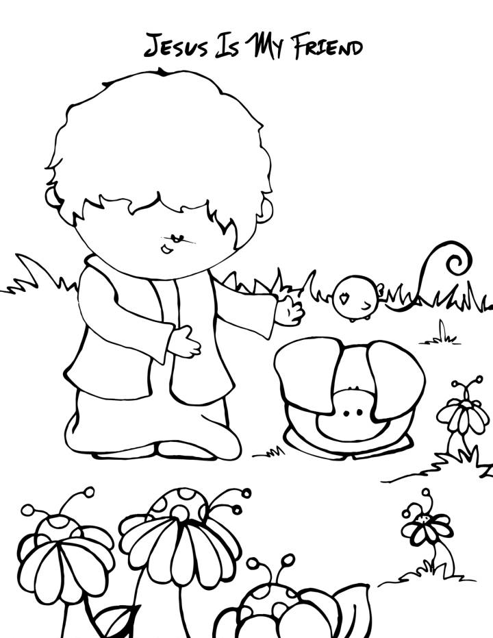 Coloring Pages For Sunday School Lessons : Bible coloring pages for sunday school lesson friends