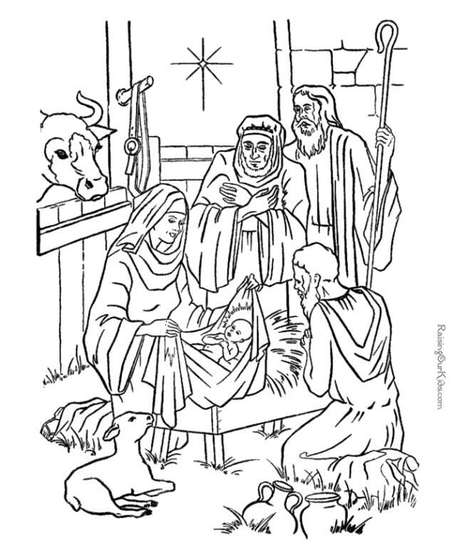 The Birth Of Jesus - Coloring Home