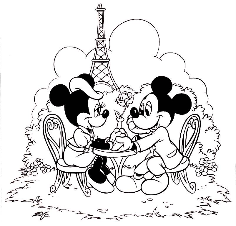 Free Minnie Mouse Christmas Coloring Pages