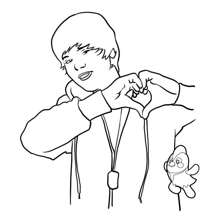 Justin bieber color pages az coloring pages for Justin bieber coloring pages