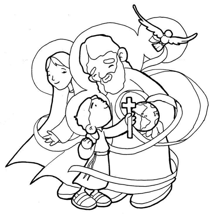 Holy Trinity Coloring Page - TheCatholicKid.com | Catholic ... | 727x736