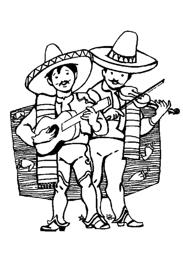 printable mexican food coloring pages - photo#38