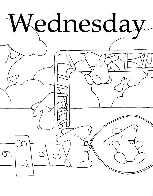 Days Of The Week Coloring Pages Az Coloring Pages Days Of The Week Coloring Pages