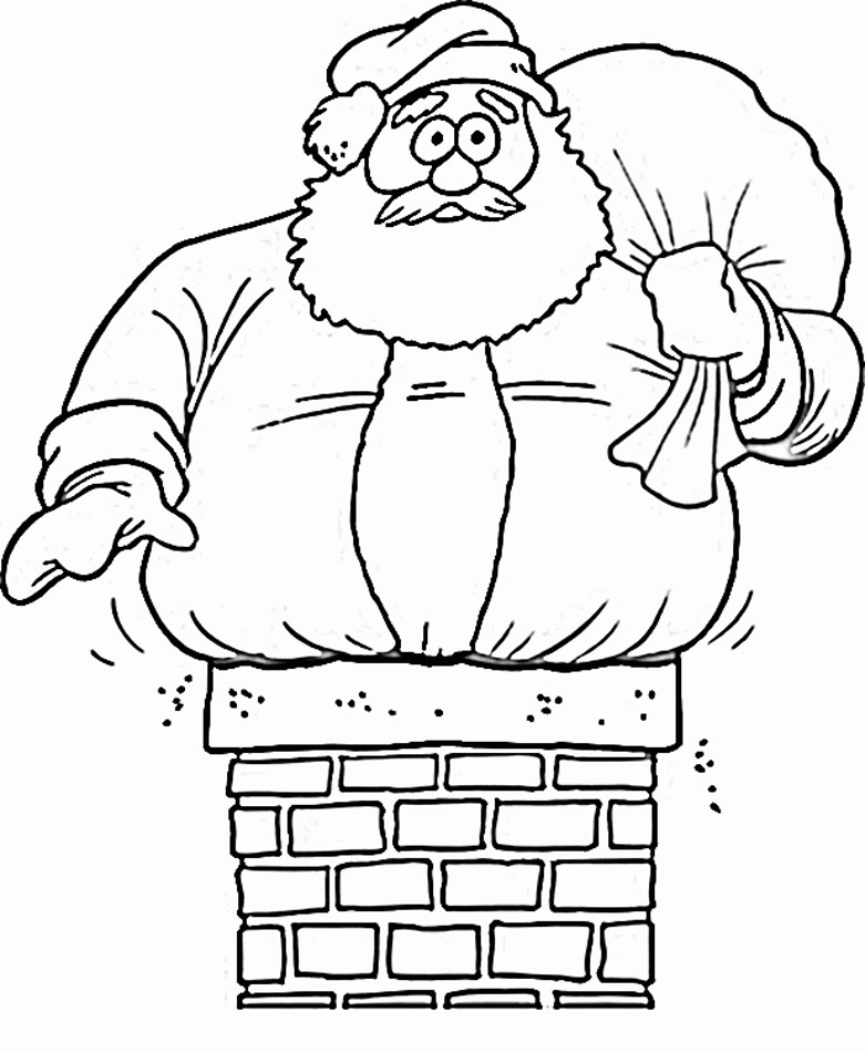 the santa clause coloring pages - photo#25