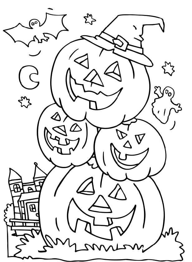 curious george pumpkin coloring pages - photo#1