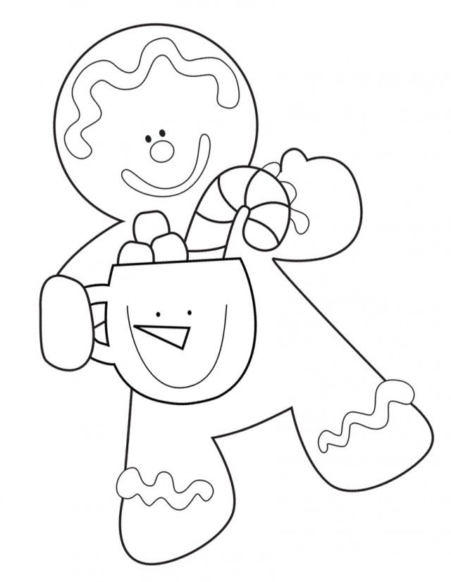 Free Coloring Pages Of Cute Gingerbread House Gingerbread Coloring Page